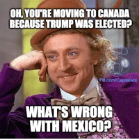 Memes, Canada, and fb.com: OH, YOUTREMOVING TO CANADA  BECAUSE TRUMPWASELECTED?  FB.com/Capitalists  WHATS WRONG  WITH MERICOP Just sayin...