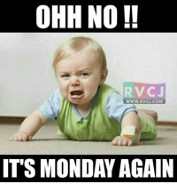 Memes, 🤖, and Its-Monday-Again: OHH NO !!  WWW.RVCJ.COM  ITS MONDAY AGAIN  V Ohh! No !!