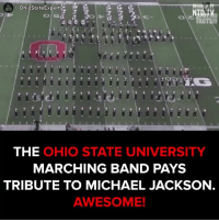 Extreme coordination!  #onedip: OhiostateExperts  NTD TV  THE  OHIO STATE UNIVERSITY  MARCHING BAND PAYS  TRIBUTE TO MICHAEL JACKSON  AWESOME! Extreme coordination!  #onedip