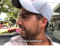 Dank, Disneyland, and 🤖: ohnbcrist I YT  Well is it air-conditioned? Every parent at Disneyland.  By John Crist