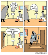 Death, Patient, and Ohno: OHNO,  NOT LIKE  THIS!  OK, I'LL  WAIT.  NUMBER  ONE OR NUMBER  TWo?  WARANDPEAS.COM <p>Death is patient&hellip;</p>
