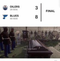 DOUBLE TAP TO PAY RESPECTS 😂: OILERS  29 SOG  3  FINAL  BLUES  40 SOG  8  @nhl ref logic  Pay Respec  Press F to Pay Respects DOUBLE TAP TO PAY RESPECTS 😂