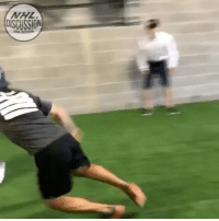 Memes, Today, and Been: OISCUSSION A very quick and nimble @terrellowens nearly broke @kletang_58's ankles in a dryland session today. What would have happened had the competition been on ice, with the two athletes wearing skates? NHLDiscussion Letang Owens