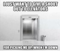 For, Shoutout, and  Want: OJUST WANT TO GIVEASHOUT  OUTTOELEVATORS  co  FOR Shoutout to elevators 😂😂 https://t.co/gnW4Sv0P7U