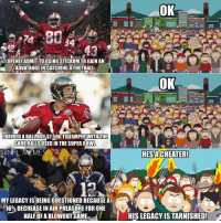 Brady Haters Be Like..: OK  CHI  24  I OPENLY ADMIT TOUSING STICKUM TO GAIN AN  ADVATANGE IN CATCHING A FOOTBALL  OK  CHEF  BRIBEDABALLBOYSTE000TOITAMPERWTHUHE  GAME BALLSUSED IN THE SUPER BOWL  @NFL MEMES  HESACHEATER!  MY LEGACY ISBEING QUESTIONED BECAUSE AD  16% DECREASE IN AIR PREASUREFOR ONE  HALF OFABLOWOUTGAME  T HISLEGACY ISTARNISHED! Brady Haters Be Like..
