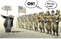 "best-leaf:  libertarirynn:  I'm legitimately confused about what this cartoon is trying to convey.  This is an edit of an anti-Trump comic. I'm pretty sure in the original the soldier is saying ""I signed up to fight in the middle east not at the border"" (paraphrasing).  OK that makes a little more sense but it doesn't explain why Trump appears to be dabbing.: OK!  Now this  is epic!  ORDER  MEXICO  Che New UorkGimes best-leaf:  libertarirynn:  I'm legitimately confused about what this cartoon is trying to convey.  This is an edit of an anti-Trump comic. I'm pretty sure in the original the soldier is saying ""I signed up to fight in the middle east not at the border"" (paraphrasing).  OK that makes a little more sense but it doesn't explain why Trump appears to be dabbing."