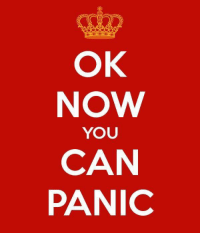 Keep calm and...: OK  NOW  YOU  CAN  PANIC Keep calm and...