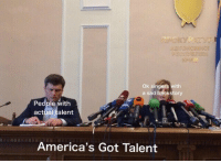 singers: Ok singers with  a sad backstory  People with  actual talent  America's Got Talent