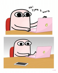 9gag, Memes, and Time: ok!  Time 2 jor*  0  0 @doodles presents: Feeling offended cuz I'm supposed to be working now. By @ketnipz - doodles procrastination 9gag