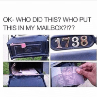 😂😂lmao - - - - 420 memesdaily Relatable dank MarchMadness HoodJokes Hilarious Comedy HoodHumor ZeroChill Jokes Funny KanyeWest KimKardashian litasf KylieJenner JustinBieber Squad Crazy Omg Accurate Kardashians Epic bieber Weed TagSomeone hiphop trump rap drake: OK WHO DID THIS? WHO PUT  THIS IN MY MAILBOX 😂😂lmao - - - - 420 memesdaily Relatable dank MarchMadness HoodJokes Hilarious Comedy HoodHumor ZeroChill Jokes Funny KanyeWest KimKardashian litasf KylieJenner JustinBieber Squad Crazy Omg Accurate Kardashians Epic bieber Weed TagSomeone hiphop trump rap drake