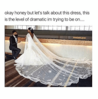 Beautiful, Crazy, and Dank: okay honey but let's talk about this dress, this  is the level of dramatic im trying to be on..  am So beautiful. Whats your favorite color? - - - love memesdaily Relatable dank girl Memes Hoodjokes Hilarious Comedy Hoodhumor Zerochill Jokes Funny Kanywest Kimkardashian litasf Kyliejenner Justinbieber Squad Crazy Omg Accurate Kardashians Epic bieber Photooftheday Tagsomeone trump rap drake