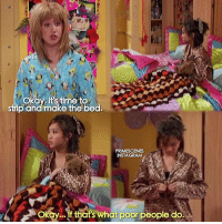 SuiteLifeOfZackandCody childhood ruined 😂 follow @primescenes (me) for more.: Okay, its time to  strip and make the bed  PRIMESCENES  INSTAGRAM  A If that's what poor people do. SuiteLifeOfZackandCody childhood ruined 😂 follow @primescenes (me) for more.