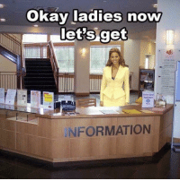 Okay ladies no  let's get  N FORMATION when one of your friends say they met a new boy