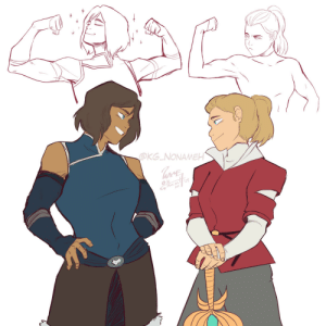 "Tumblr, Thank You, and Blog: OKG NONAMEH  19  ざ.05 kg-nonameh:  This is straight up procrastination in its purest form.  So, in this essay I will defend the posture in which, if Korra and Adora met, they would do a flexing contest because they are that kind of dorks… Meanwhile, at the distance, you can literally hear these two thinking ""These two are idiots but I can't stop looking""…But at the end of the day, we all know who is the winner of the contest and our hearts. Thank you for assisting to this talk"
