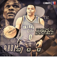 Russell Westbrook becomes the 4th player in NBA history to record 6+ consecutive triple-doubles & the 1st since Michael Jordan (7) in 1989.  © NBA On TNT  -geann: OKLAHL  NBATV  STV Russell Westbrook becomes the 4th player in NBA history to record 6+ consecutive triple-doubles & the 1st since Michael Jordan (7) in 1989.  © NBA On TNT  -geann