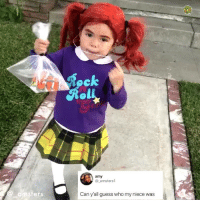 Halloween, Memes, and Guess: ol  amy  @ amsters1  arnsters  Can y'all guess who my niece was Post 1469: this officially wins halloween 2018🎃