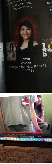 "dammit jamie https://t.co/Z5ItYKkJq4: ol  die, and wif lI  was born to fly.""  Wesley Payne  pec  to  to  Jamie  Valdez  Orange is the New Black S3  E13 1:07:11   !!  妨  Orange is the New Black  Season 3. Ep.13 That No Bitch dammit jamie https://t.co/Z5ItYKkJq4"