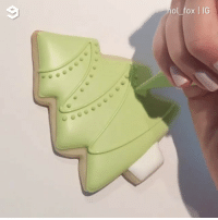 9gag, Memes, and Watch: ol fox | IG Cookie decorating is so soothing to watch By @hol_fox - 9gag cookie satisfying
