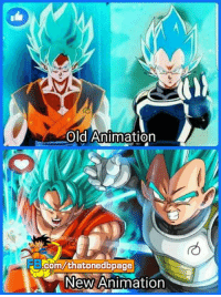 which one do you perfer ~Dragon Ball Z/Super: Old Animation  ME ccom/thatonedbpage  New  Animation which one do you perfer ~Dragon Ball Z/Super