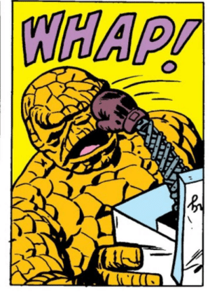 Old Fantastic Four books had a lot of these out of context panels.: Old Fantastic Four books had a lot of these out of context panels.