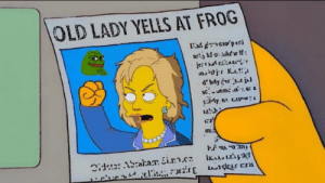 I am a real american!: OLD LADY YELLS AT FROG  852  IE2 I am a real american!