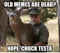 You were wrong!: OLD MEMES ARE DEAD?  NOPE CHUCK TESTA You were wrong!