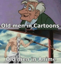Gif, Memes, and Cartoon: Old men in Cartoons  old men in Ani Please like --> Anime GIFs
