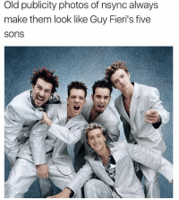 They rode the bus to flavortown: Old publicity photos of nsync always  make them look like Guy Fieri's five  sons They rode the bus to flavortown