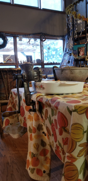 Old school grinder we use to make homemade Christmas tamales every year. Still works like a charm!: Old school grinder we use to make homemade Christmas tamales every year. Still works like a charm!