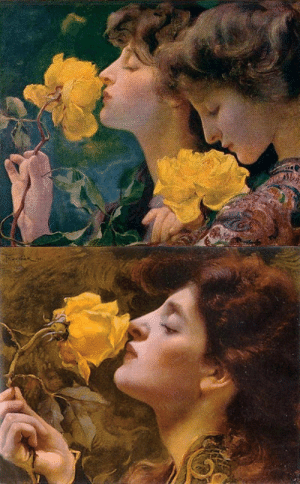 oldpaintings:The Four Roses and Lady of the Roses, 1901 by František Dvořák (Czech, 1862–1927): oldpaintings:The Four Roses and Lady of the Roses, 1901 by František Dvořák (Czech, 1862–1927)