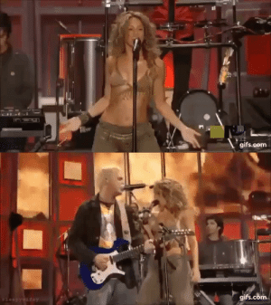 sleepywifey:  Shakira performs La Tortura Live on MTV, 2005. The first time a song has been sung entirely in Spanish at the MTV music awards.   Queen of performing : OLI  gifs.com  leep ywaew   gifs.com  $leepywifey sleepywifey:  Shakira performs La Tortura Live on MTV, 2005. The first time a song has been sung entirely in Spanish at the MTV music awards.   Queen of performing