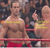 Memes, Olive Garden, and Wow: Olive Garden  unliaited  breadsticks  World hunger Wow, okay. I like it. 😂😂 @douggiehouse