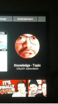 "Memes, youtube.com, and Http: ology  Entertainment  ION  328  Knowledge - Topic  236,031 subscribers  TS  OVER  0  Back too <p>The thumbnail for the knowledge category on Youtube is Tai Lopez via /r/memes <a href=""http://ift.tt/2hqkdOi"">http://ift.tt/2hqkdOi</a></p>"