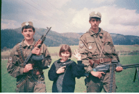 Dank, Friends, and Battlefield: Olovsko battlefield,two young Serb volunteers and their little friend