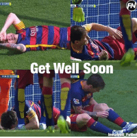 Memes, Soon..., and Messi: OLPH  25  Get Well Soon  FCB 0.0 LPH  I Futbol Messi will be out 1-2 months