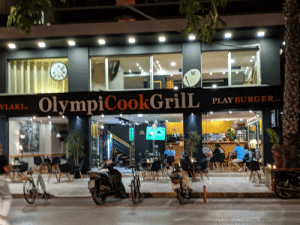 When you can't decide between capital letters or not: OlympiCookGrilL  VLAKI.  PLAY BURGER..  WA When you can't decide between capital letters or not