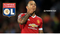 Memes, Manchester United, and Manchester: OLYMPIQUE  LYONNAIS  CH  TRANSFER TALK Manchester United have agreed a deal to sell Memphis Depay to Lyon. It is thought the fee is £16m, rising to £21.7m.