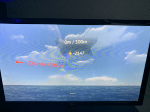 Windows, Submarine, and Void: Om/500m  4-2147  E  ngine Offe  Activate Windows  Stng to  Exit (E)  LG My submarine went into the void