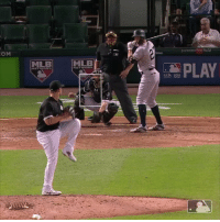 Mlb, Sports, and Time: OM  MLE  MLB  PLAY  UB SA  3H A third baseman is pitching, perfect time for Giancarlo Stanton to show off his pow....never mind. https://t.co/5IoxA67dEV