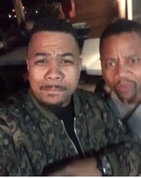 Cuba Gooding Jr., Omar Gooding, and Cuba: Omar Gooding vibin out with his brother Cuba Gooding Jr! 🙌💯 (IG/OmarGooding & CubaGoodingJr) https://t.co/inYuflYkro