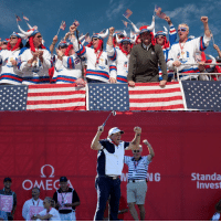 Sports, Time, and Usa: OMEG  ERC  RYE  SA  D R CUP  Standa  Inves Team USA wins the Ryder Cup for the first time since 2008! 🇺🇸🏌