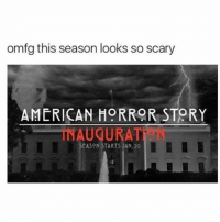 American Horror Story, Girl, and Horror: omfg this season looks so scary  AMERICAN HORROR STORY  CASON STARTS JAN, 20 r u excited