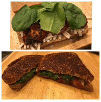 Omg all my Vegan babies need to try this simple grill cheese sandwich! Organic whole wheat bread Vegan: Butter, cheese Organic oven roasted tomatoes , spinach Fresh Garlic & sea salt , pepper 😋 GoodAf VeganMeals bodiedbyporsha MayNotBeCuteButItsLit CheckIgStory: Omg all my Vegan babies need to try this simple grill cheese sandwich! Organic whole wheat bread Vegan: Butter, cheese Organic oven roasted tomatoes , spinach Fresh Garlic & sea salt , pepper 😋 GoodAf VeganMeals bodiedbyporsha MayNotBeCuteButItsLit CheckIgStory