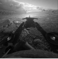 omg-humor:  Today, NASA will officially have to say goodbye to the little rover that could. The Mars Opportunity Rover was meant to last just 90 days and instead marched on for 14 years. It finally lost contact with earth after it was hit by a fierce dust storm.: omg-humor:  Today, NASA will officially have to say goodbye to the little rover that could. The Mars Opportunity Rover was meant to last just 90 days and instead marched on for 14 years. It finally lost contact with earth after it was hit by a fierce dust storm.