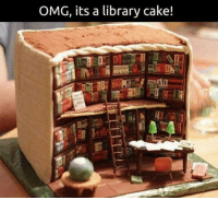 Library: OMG, its a library cake!
