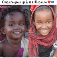 Blessed, Cute, and Memes: Omg she grew up & is still so cute a  @chaka bars Blessed to all of the Somali people out there lovearmyforsomalia @safaidrissnour