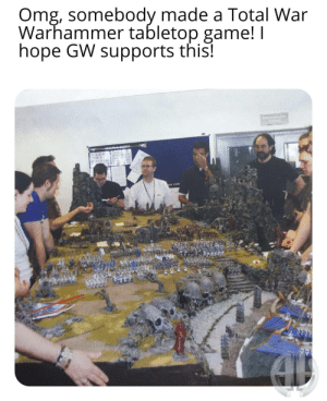 It's that video game you love so much Werherrmer: Omg, somebody made a Total War  Warhammer tabletop game! I  hope GW supports this! It's that video game you love so much Werherrmer