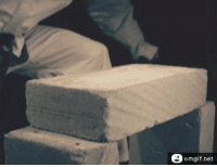 Slow Motion, Net, and Karate: omgif.net Slow motion karate chopping a cement brick. https://t.co/peeFfwBiuH