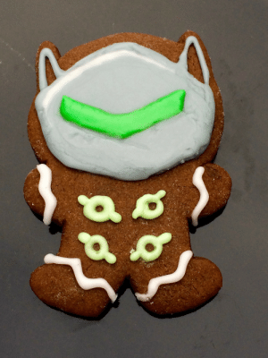 Tumblr, Blog, and Heroes: omnomberrybars:Gingerbread Genji from Heroes of the Storm