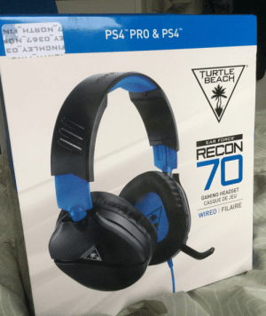 """Flexing, Ps4, and Beach: ON 49EO  7 NORTH_FIN  PS4"""" PRO&PS4  TM  TM  FINCHLEY 03  TURTLE  BEACH  EAR FORCE  RECON  70  GAMING HEADSET  CASQUE DE JEU  WIRED FILAIRE This is not a flex but I'm just happi"""